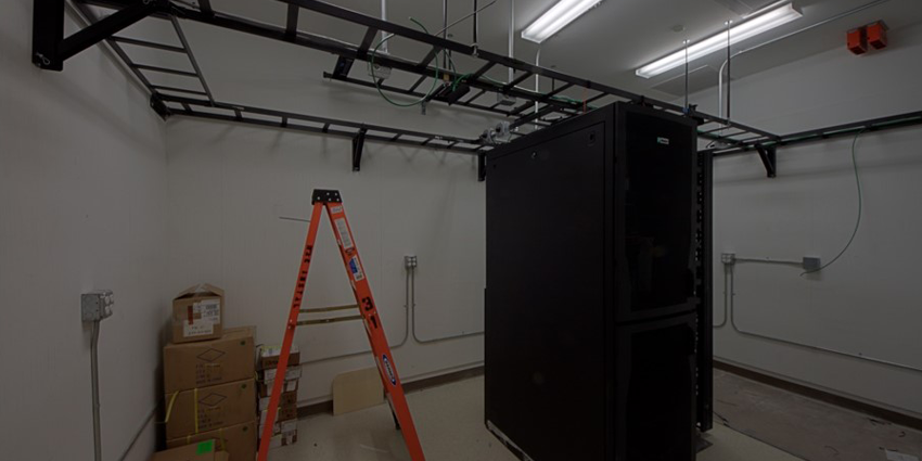 Ladder Rack and Server Cabinet Install