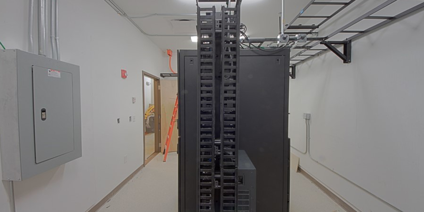 Server Cabinet and 2-Post Relay Rack Install