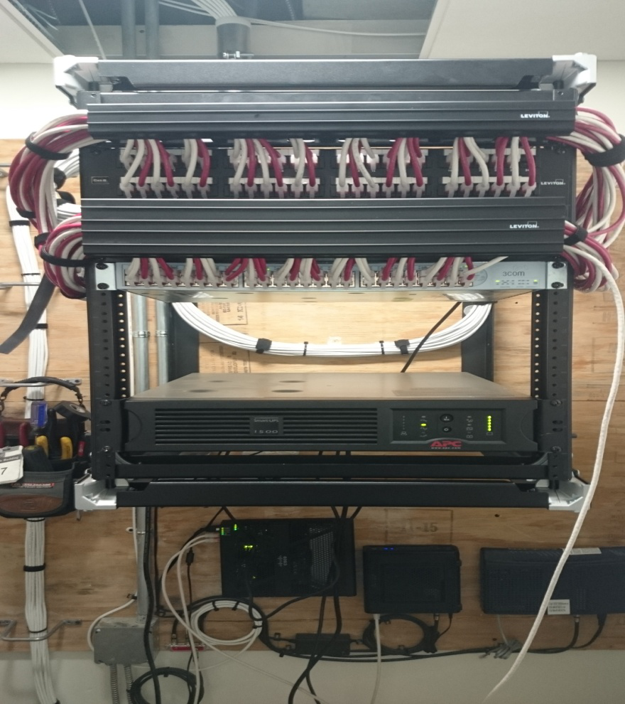 48 port POE network switch and patch cords